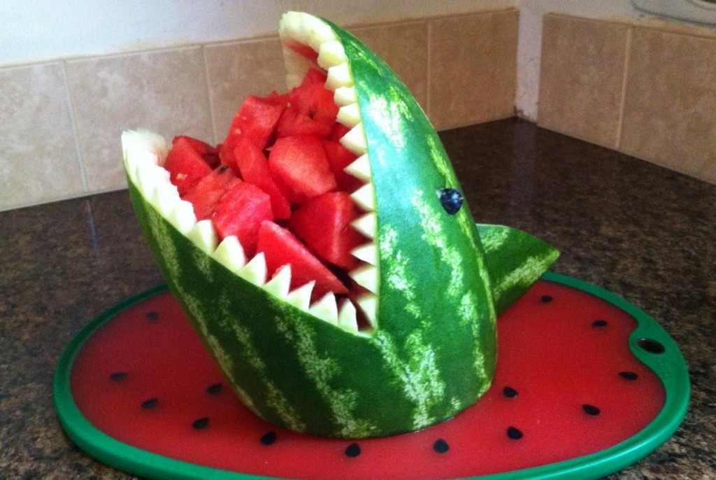 How to carve a watermelon shark what about