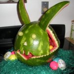 WATERMELON CARVING CONTEST FINALIST #1: THE RABBIT