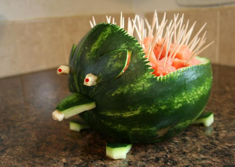 How to carve a watermelon hedgehog what about