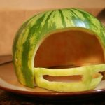 SECOND SLICE: HOW TO CARVE A WATERMELON FOOTBALL HELMET