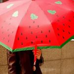 GIFTS FOR WATERMELON LOVERS: A WATERMELON UMBRELLA!