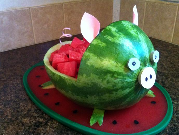 How To Carve A Watermelon Pig What About Watermelon