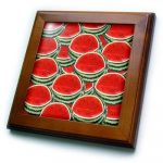 FEATURED PRODUCT AND MAY PRIZE: THE WATERMELON FRAMED TILE