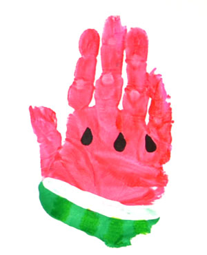 watermelon-hand-print-art
