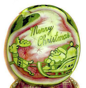 watermelon-christmas-carving