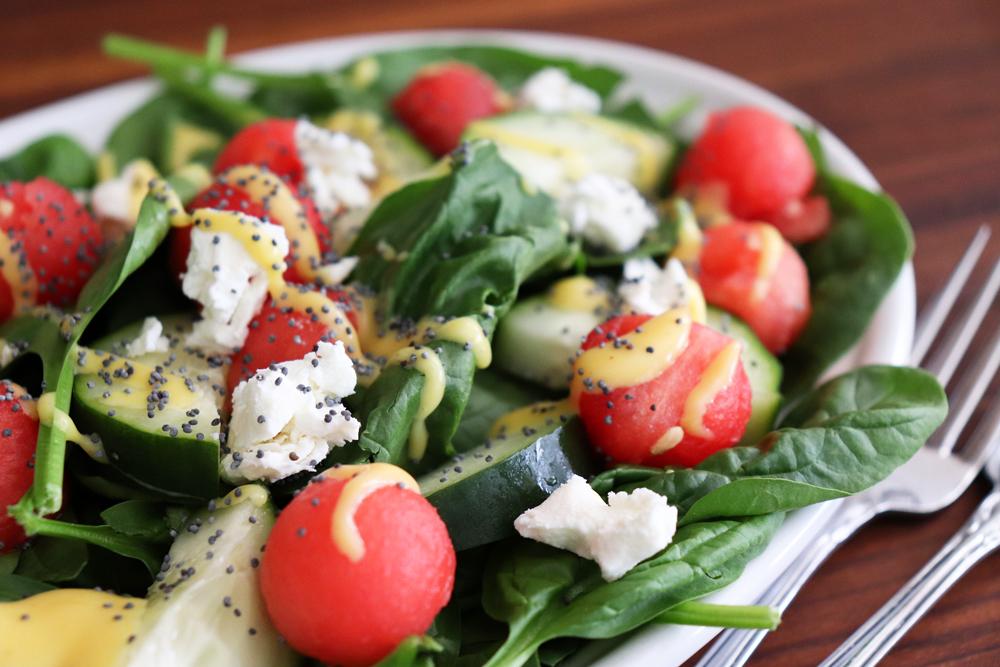 Watermelon and Goat Cheese Salad Recipe hero shot